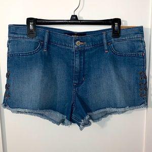 Hollister High Rise Crisscross Jean Shorts Size 15